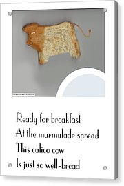 Acrylic Print featuring the digital art Calico Cow by Graham Harrop
