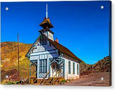Calico School House Acrylic Print by Garry Gay