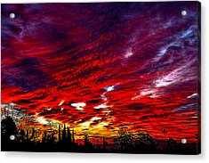 Sunrise In Los Angeles Acrylic Print