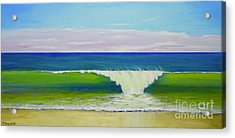 Acrylic Print featuring the painting Califia Beach by Mary Scott