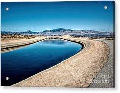 California Aqueduct At Fairmont Acrylic Print