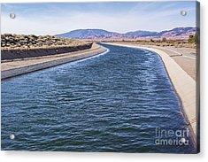 California Aqueduct S Curves Acrylic Print
