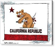 California Budget Harakiri Acrylic Print
