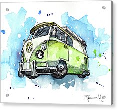 California Bus Acrylic Print