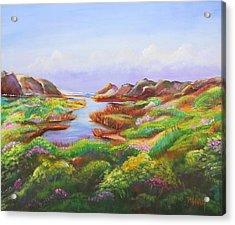 California Coast Acrylic Print by Patricia Piffath