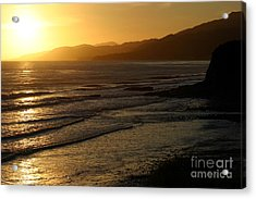 California Coast Sunset Acrylic Print