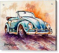 California Convertible Acrylic Print by Michael David Sorensen