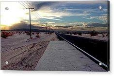 California Desert Highway Acrylic Print by Christopher Woods