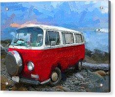 California Dreamin Red Acrylic Print by Ron Regalado