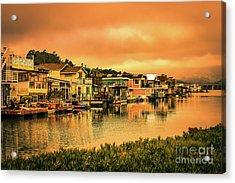 California Houseboats Acrylic Print by Claudia M Photography
