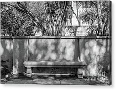 California Institute Of Technology Bench Acrylic Print by University Icons