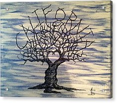 Acrylic Print featuring the drawing California Love Tree by Aaron Bombalicki