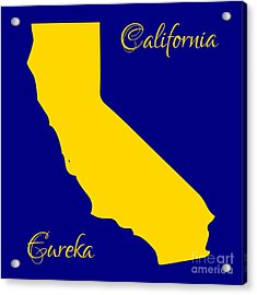 California Map With State Colors And Motto Acrylic Print by Rose Santuci-Sofranko
