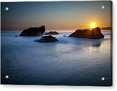 California Ocean Sunset Acrylic Print