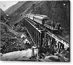 California: Railroad, 1869 Acrylic Print by Granger