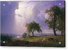 California Spring Acrylic Print by Albert Bierstadt