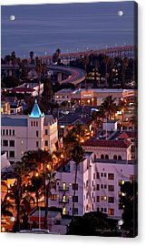 California Street At Ventura California Acrylic Print by John A Rodriguez