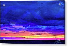 Acrylic Print featuring the painting California Sunrise by Joan Reese