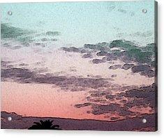 California Sunset - 1 Acrylic Print by Sally Stevens