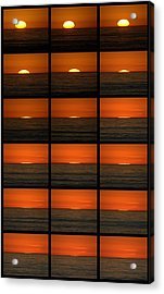 California Sunset Acrylic Print by Brad Scott