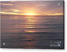 Acrylic Print featuring the photograph California Sunset by Carol  Bradley