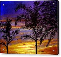 California Sunset Acrylic Print by Olga Kaczmar