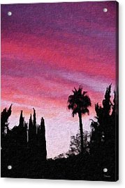 California Sunset Painting 2 Acrylic Print by Teresa Mucha