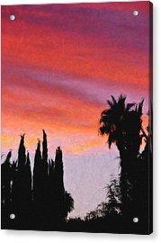 California Sunset Painting 3 Acrylic Print by Teresa Mucha