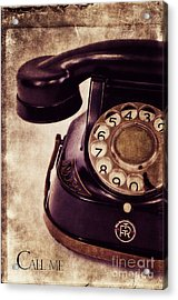 Call Me Acrylic Print by Angela Doelling AD DESIGN Photo and PhotoArt