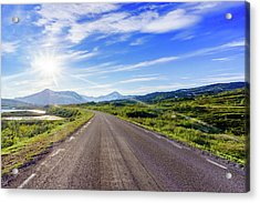 Acrylic Print featuring the photograph Call Of The Road by Dmytro Korol