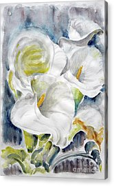 Acrylic Print featuring the painting Calla by Jasna Dragun