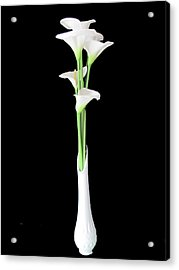Calla Lily Bouquet Still Life Acrylic Print by Judith Turner