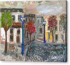 Calle Chile Acrylic Print by Carlos Camus