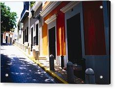 Calle Del Sol Old San Juan Puerto Rico Acrylic Print by George Oze