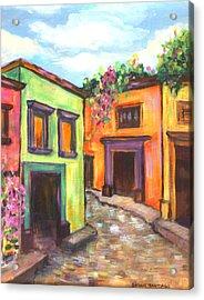 Calle En San Miguel De Allende Acrylic Print