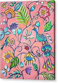 Callies Garden Acrylic Print by Sandra Lett
