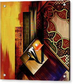 Acrylic Print featuring the painting Calligraphy 102  2 1 by Mawra Tahreem
