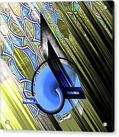 Acrylic Print featuring the painting Calligraphy 103 4 by Mawra Tahreem
