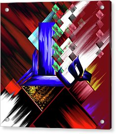 Acrylic Print featuring the painting Calligraphy 105 3 by Mawra Tahreem