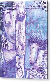 Acrylic Print featuring the mixed media Calling Upon The Spirit Animals by Prerna Poojara