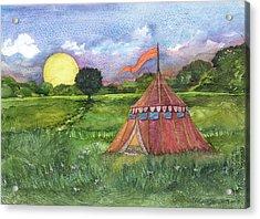 Calliope's Tent Acrylic Print by Casey Rasmussen White