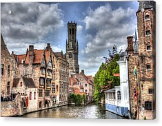 Calm Afternoon In Bruges Acrylic Print by Shawn Everhart