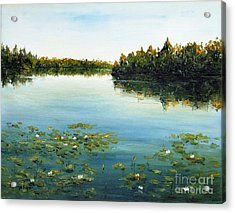 Acrylic Print featuring the painting Calm by Arturas Slapsys