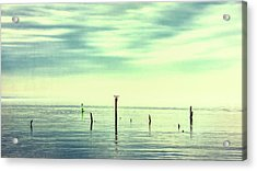 Acrylic Print featuring the photograph Calm Bayshore Morning N0 1 by Gary Slawsky