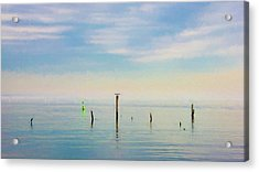 Acrylic Print featuring the photograph Calm Bayshore Morning N0 2 by Gary Slawsky