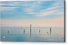 Acrylic Print featuring the photograph Calm Bayshore Morning N0 3 by Gary Slawsky