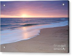 Calm Beach Waves During Sunset Acrylic Print