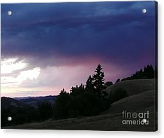 Calm Before The Really Big Storm Acrylic Print by JoAnn SkyWatcher