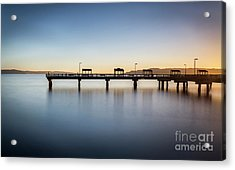 Calm Morning At The Pier Acrylic Print