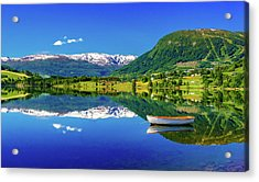 Acrylic Print featuring the photograph Calm Morning On Lonavatnet by Dmytro Korol